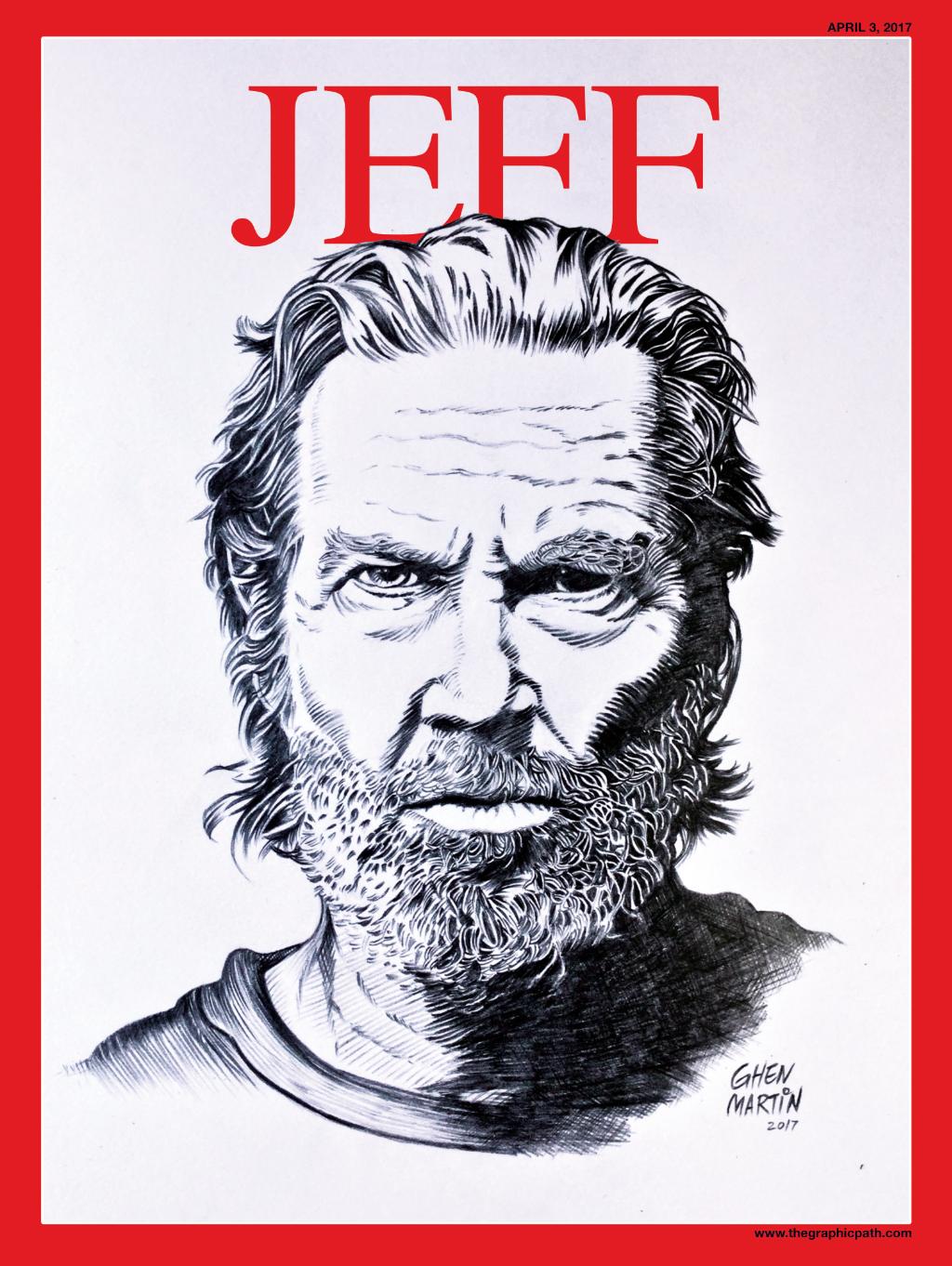 Jeff Bridges American actor portrait