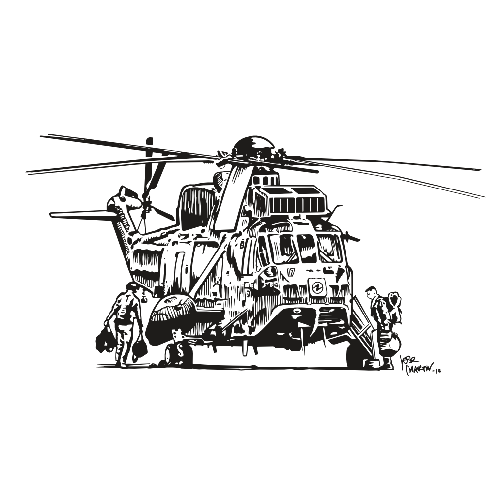 SAR Ink Illustration